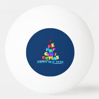 Het vrolijke Gelukkige Nieuwjaar van Kerstmis Pingpongballetjes