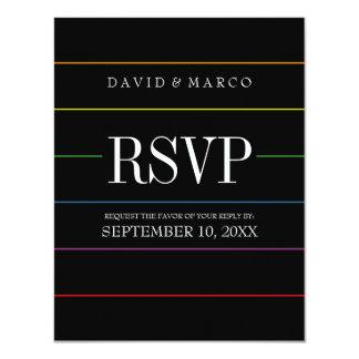 Het Vrolijke Huwelijk van de Kleuren RSVP van de 10,8x13,9 Uitnodiging Kaart