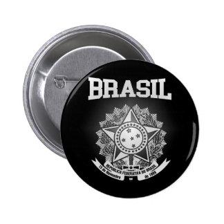 Het Wapenschild van Brazilië Ronde Button 5,7 Cm