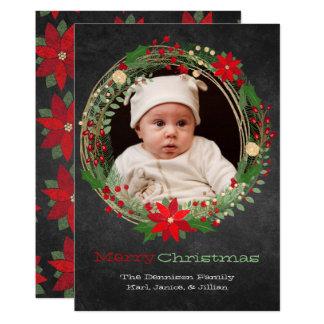 Het Wenskaart van de Foto van Kerstmis van de Kaart