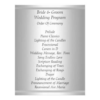 Het witte Programma van het Huwelijk Folder Ontwerp