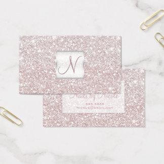 Het witte Roze schittert Elegante Glam Glitzy Visitekaartjes