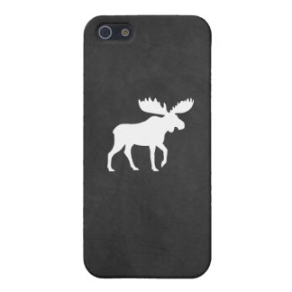 Het witte Silhouet van Amerikaanse elanden iPhone 5 Covers