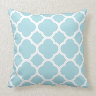 Het zachte Blauwe Patroon Quatrefoil van het Baby Kussen