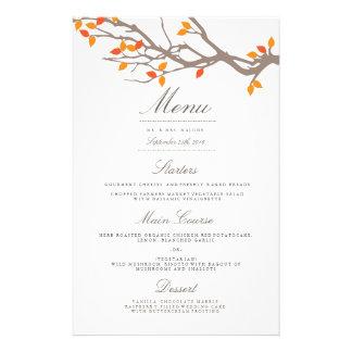Het zalige Menu van het Diner van het Huwelijk van Flyer 14 X 21,6 Cm