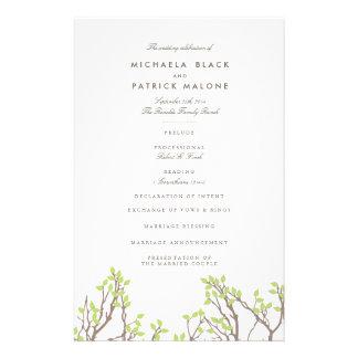 Het zalige Programma van het Huwelijk van Takken Flyer 14 X 21,6 Cm