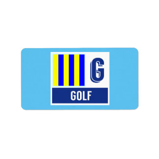 """Het zeevaart Alfabet G """"Golf """" van de Vlag van de Etiket"""