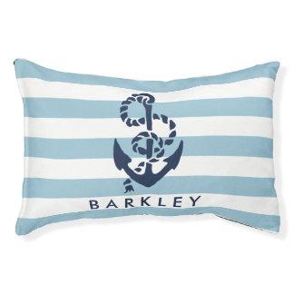 Het zeevaart Blauwe Gepersonaliseerde Anker van de Hondenbedden