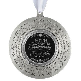 Het zilveren Jubileum van het Lijst & van het Rond Pewter Ornament