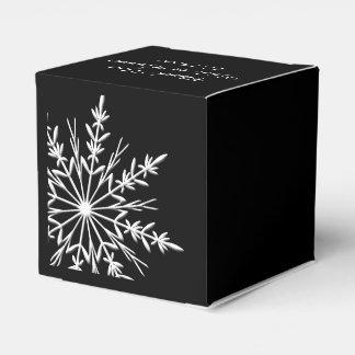 Het zwart-witte Huwelijk van de Winter van Bedankdoosjes