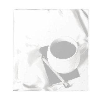 Het Zwart-witte Ontbijt van de Kop van de koffie Notitieblok
