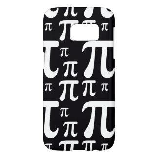 Het zwart-witte Patroon van Pi Samsung Galaxy S7 Hoesje