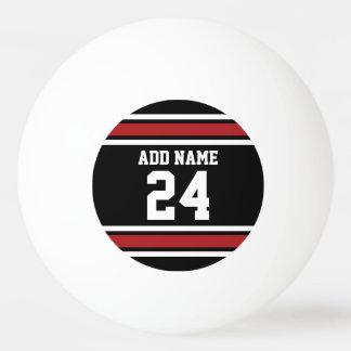 Het zwarte en Rode Aantal van de Naam van de Pingpongballen