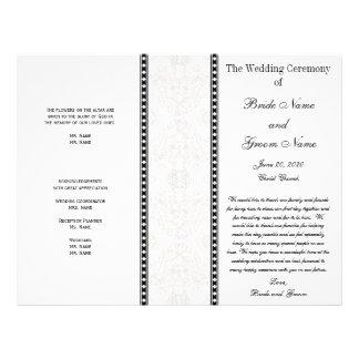 Het zwarte Grijze Programma van het Huwelijk van Flyer