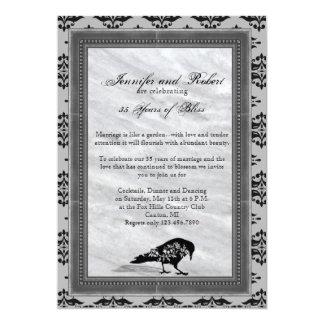 Het zwarte Jubileum van het Huwelijk van het Lijst 12,7x17,8 Uitnodiging Kaart