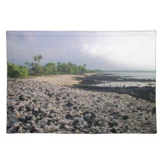 Het zwarte Strand van het Zand in Hawaï Placemats