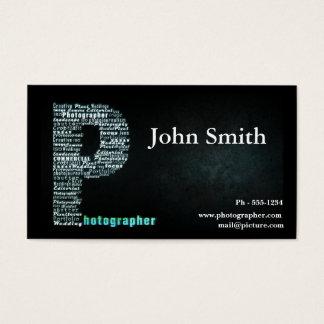 Het zwarte visitekaartje van de Fotograaf Visitekaartjes