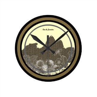 heure d'aller au Rio de Janeiro Horloge Ronde