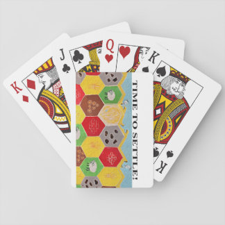 Heure d'arranger des cartes de jeu jeu de cartes