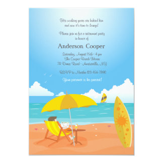 Heure de détendre l'invitation de partie de carton d'invitation  12,7 cm x 17,78 cm