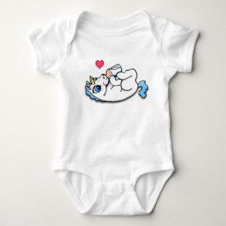 Heure du repas de licorne de bébé - bleu body