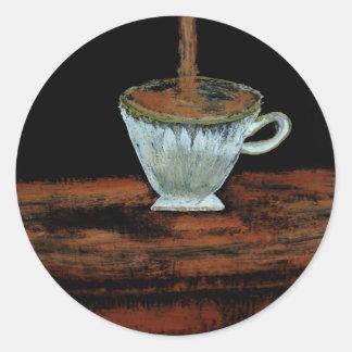 Heure du thé autocollants ronds