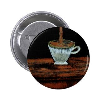 Heure du thé badge rond 5 cm