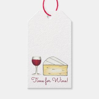Heure pour le vin de vin rouge + Étiquette de