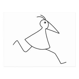heureux-curieux-occupé : le Liquide-oiseau de base Carte Postale