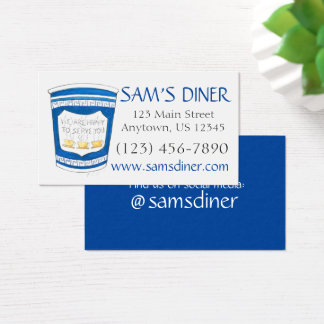 Heureux de vous servir la nourriture grecque de cartes de visite
