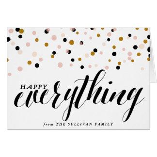 Heureux tout carte de vacances des confettis |