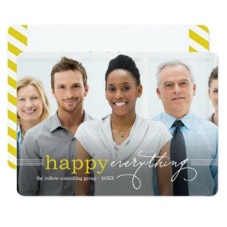 Heureux tout carte photo de vacances d'affaires