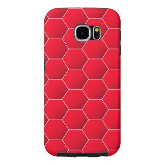 Hexagone géométrique rouge