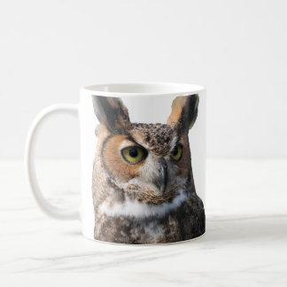 Hibou à cornes mug blanc