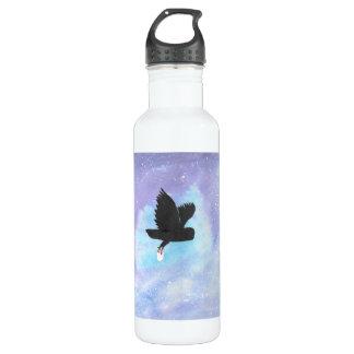 Hibou avec la bouteille d'eau de courrier