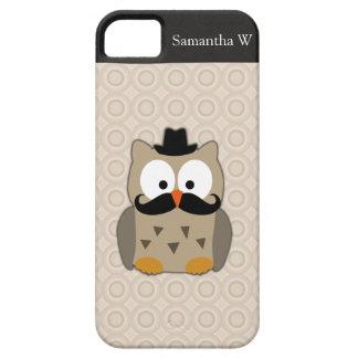 Hibou avec la moustache et le casquette coque iPhone 5 Case-Mate