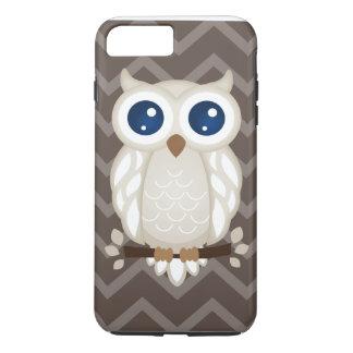 Hibou blanc coque iPhone 7 plus