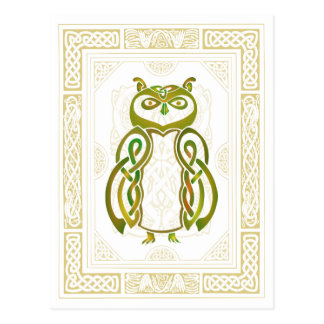 Hibou celtique carte postale