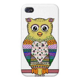 Hibou coloré mignon - blanc iPhone 4/4S case