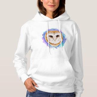 Hibou coloré pull à capuche