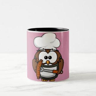 Hibou de chef mug bicolore