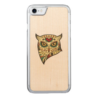 Hibou de crâne de sucre - conception de tatouage coque carved pour iPhone 7