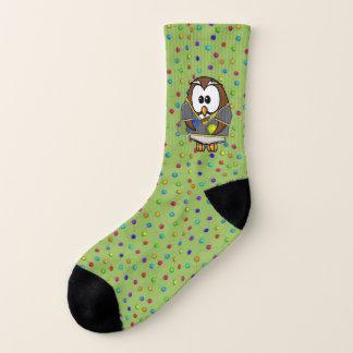 hibou de garçon de tennis - chaussettes