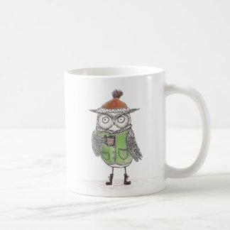 Hibou d'hiver mug