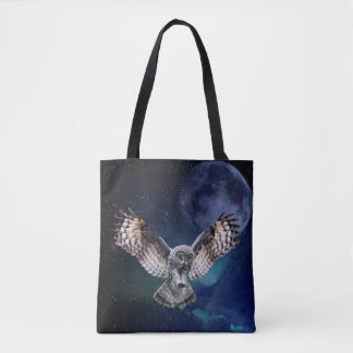 Hibou en vol tote bag