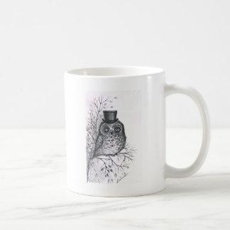 Hibou graphique mug blanc