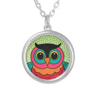 Hibou lunatique collier