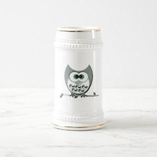 Hibou mignon chope à bière