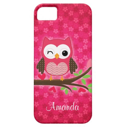 Hibou mignon de roses indien Girly Coques iPhone 5