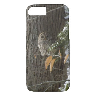 hibou neigeux coque iPhone 7